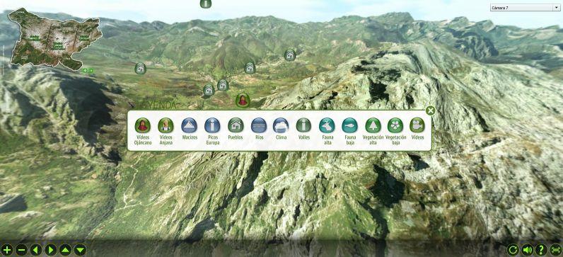 Aplicación Interactiva para conocer sobrevolando los Picos de Europa